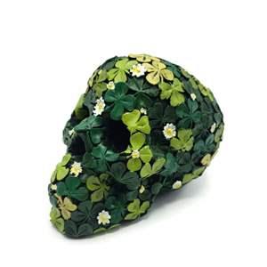 Green Flowered Skull