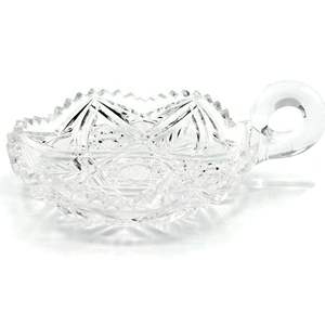 Cut Glass Handled Dish