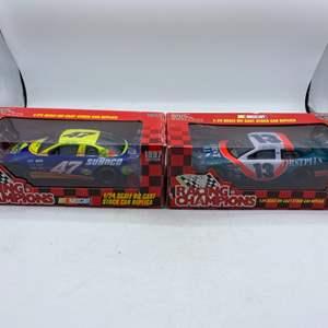 Lot # 4 Lot of 2 Racing Champions 1:24 Die Cast Stock Car Replicas