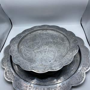 Lot # 14 Set of 3 Serving Trays