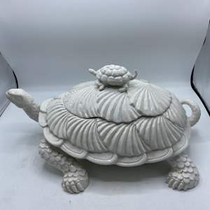 Lot # 35 Turtle Soup Tureen with Cover and Ladle