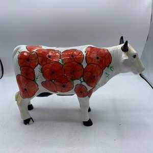Lot # 39 Porcelain Cow Bank