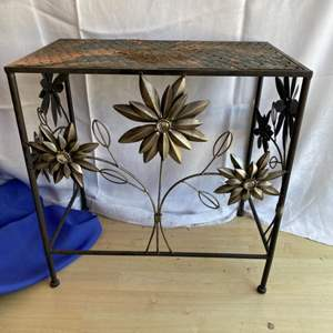Lot # 40 Outside Metal Plant Stand / Side Table