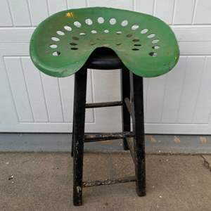 Lot # 43 Tractor Seat Mounted on Stool
