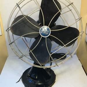"""Lot # 52 1950's 12"""" Emerson Electric 3-Speed Fan WORKS!"""