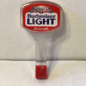 Lot # 58 Vintage Budweiser Light Draught Beer Tap