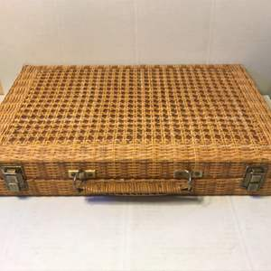 Lot # 60 Caning Backgammon Game