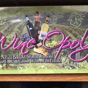 Lot # 70 Wineopoly Wine-Opoly Monopoly Board Game-New/Unopened