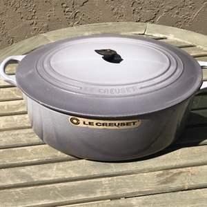 Lot # 77 Le Creuset Cast Iron Dutch Oven #31/Handle is Broken