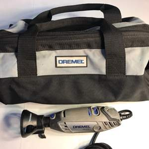 Lot # 95 Dremel 3000 Variable Speed Rotary Tool w/Bag & Accessories-Works