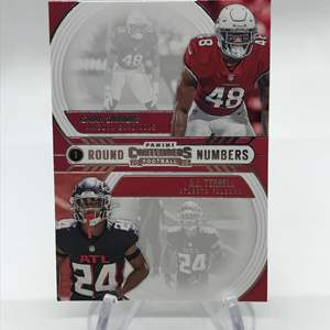 Lot # 170 2020 Panini Contenders Round Numbers ISAIAH SIMMONS/A.J. TERRELL