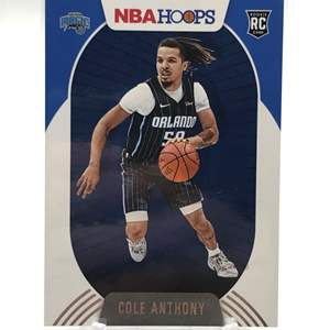 Lot # 198 2020-21 Panini Hoops Rookie COLE ANTHONY
