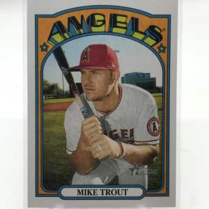 Lot # 226 2021 Topps Heritage MIKE TROUT
