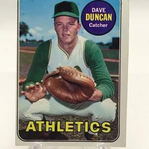 Lot # 258 1969 Topps DAVE DUNCAN