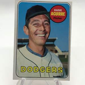 Lot # 267 1969 Topps HANK AGUIRRE