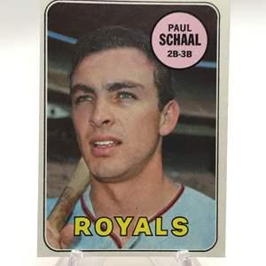 Lot # 279 1969 Topps PAUL SCHAAL