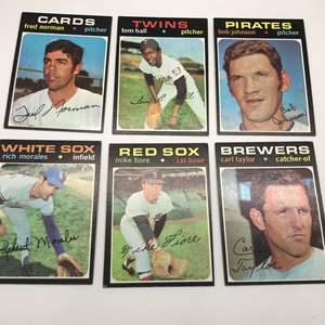 Lot # 297 1971 Baseball Cards-Lot of 6