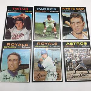 Lot # 298 1971 Baseball Cards-Lot of 6