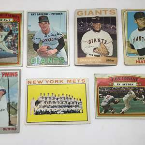 Lot # 300 1960's-70's Baseball Card Lot of 7
