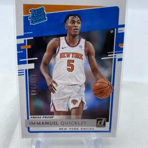 Lot # 62 2020-21 Panini Donruss Basketball IMMANUEL QUICKLEY Rated Rookie