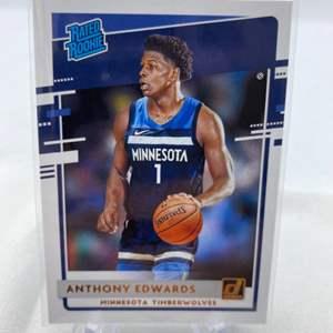 Lot # 73 2020-21 Panini Donruss Basketball ANTHONY EDWARDS Timberwolves