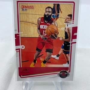 Lot # 77 2020-21 Panini Donruss Basketball JAMES HARDEN Rockets