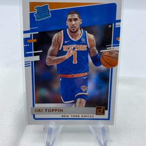 Lot # 82 2020-21 Panini Donruss Basketball OBI TOPPIN Knicks