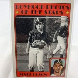 Lot # 109 2021 Topps Heritage MATT OLSON Boyhood Photos of the Stars