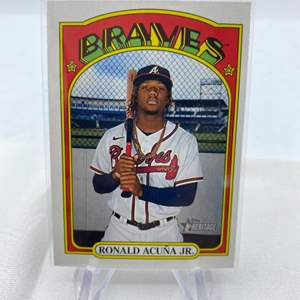 Lot # 111 2021 Topps Heritage RONALD ACUNA JR Braves