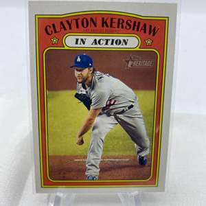 Lot # 113 2021 Topps Heritage CLAYTON KERSHAW In Action