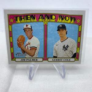 Lot # 114 2021 Topps Heritage JIM PALMER / GERRIT COLE Then and Now