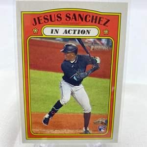 Lot # 115 2021 Topps Heritage JESUS SANCHEZ In Action