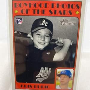 Lot # 116 2021 Topps Heritage KRIS BUBIC Boyhood Photos of the Stars