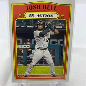Lot # 117 2021 Topps Heritage JOSH BELL In Action