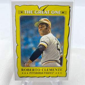 Lot # 123 2021 Topps Heritage ROBERT CLEMENTE The Great One