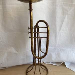 Lot # 2 Trumpet ** Candle Holder