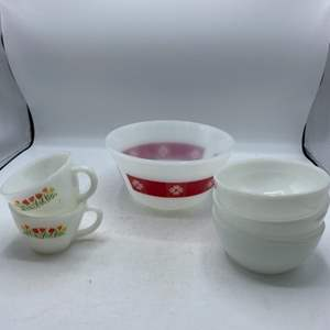 Lot # 4 Lot of Fire King Cups and Bowls