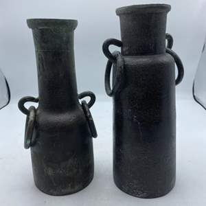 Lot # 21 Made in India Metal Vases
