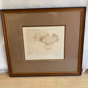 """Lot # 30 """"Quail in Flight"""" Print, Numbered and Signed"""