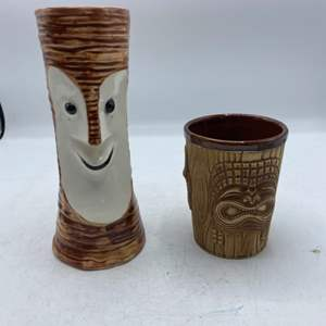 Lot # 36 Collectible San Francisco Tiki Cups (Tonga Room Fairmont Hotel & Tiki Bob's)