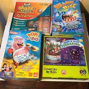 Lot # 57 Kids Toys and Games lot With Maze Escape
