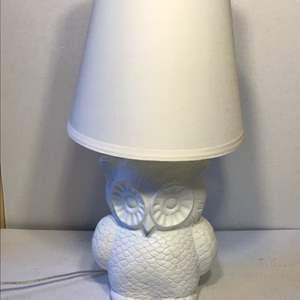 Lot # 59 Owl Lamp-Works