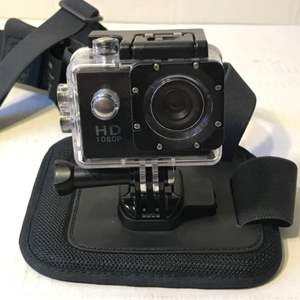 Lot # 61 HD 1080P Camera With GoPro Mount-Works