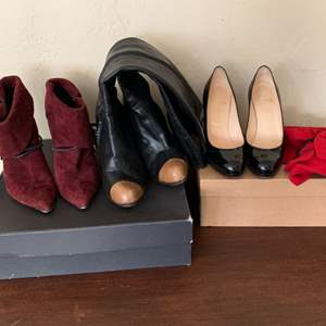Lot # 84 Lot of 3 Ladies Dress Boots (Barbara Bui / Vero Cuoio) and Pumps (Christian Louboutin)