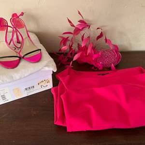 Lot # 86 Pretty in Pink - Chianti Bono La Petite Robe Size 38 Dress, Arturo Rios Hat, & Christian Dior Heels