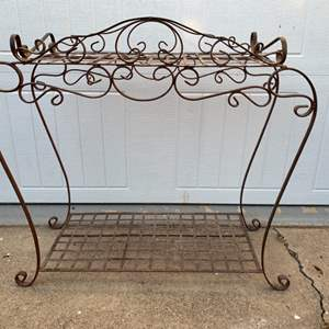 Lot # 88 Wrought Iron Plant Stand