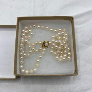 Lot # 105 Pearl Necklace (Clasp Marked 14k)
