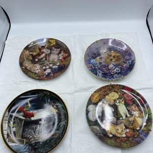 Lot # 8 Four Puppy, Cat, and Kitten Collectible Plates