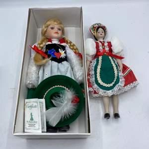 Lot # 18 Two Schneider Handmade Dolls