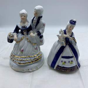 Lot # 19 Small Porcelain? Doll and Music Box